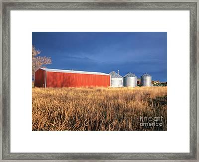 Farm And Field Framed Print by Adam Sylvester