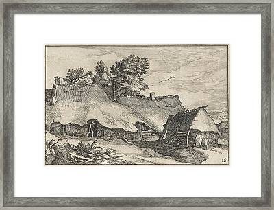 Farm And Small Barn, Claes Jansz. Visscher II Framed Print by Claes Jansz. Visscher (ii) And Abraham Bloemaert And Bo?tius Adamsz. Bolswert