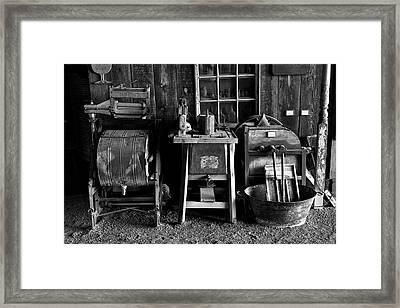 Farm Antiques Framed Print