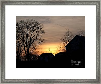 Farm At Dusk Framed Print