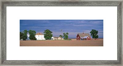 Farm At Sunset, South Ritzville, Route Framed Print by Panoramic Images