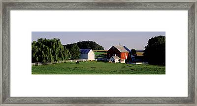 Farm, Baltimore County, Maryland, Usa Framed Print by Panoramic Images