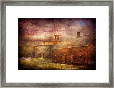 Farm - Barn - Shaker Barn  Framed Print