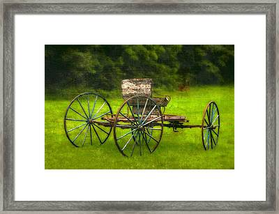 Farm Buggy Framed Print by Dave Hrusecky