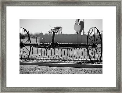 Farm Cultivator  Framed Print by Gilbert Artiaga