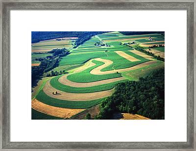 Farm Designs Pennsylvania Aerial Framed Print