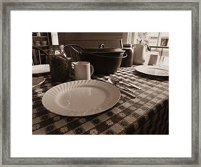 Farm Dinner Framed Print by Scott Kingery