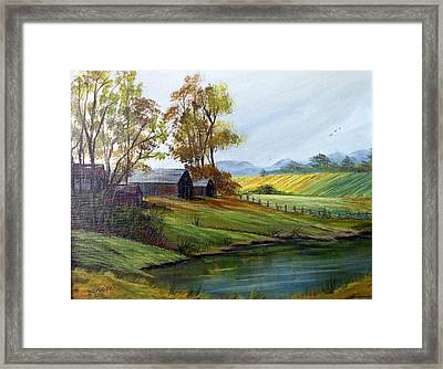 Framed Print featuring the painting Farm by Dorothy Maier