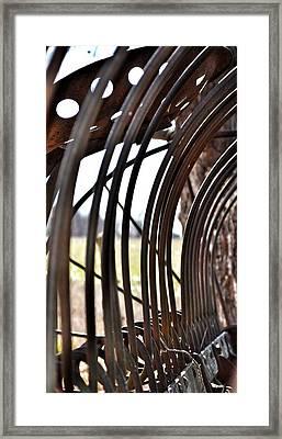 Farm Equipment Framed Print by Branden Simons