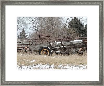 Farm Equipment Framed Print by Todd Sherlock