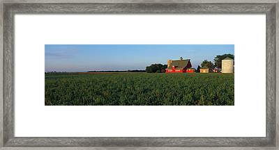 Farm Fields Stelle Il Usa Framed Print by Panoramic Images
