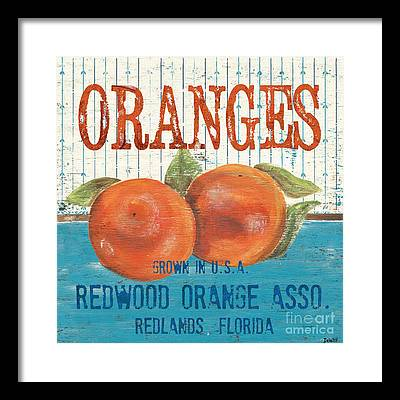 Orange Framed Prints