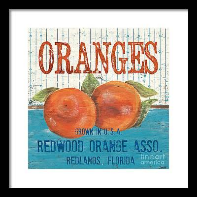 Citrus Fruits Framed Prints
