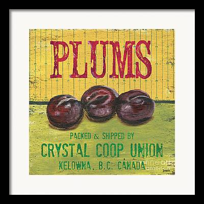 Plum Framed Prints