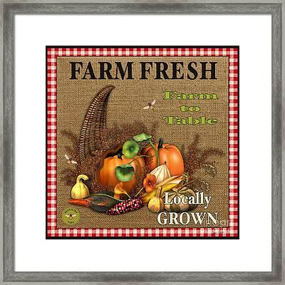 Farm Fresh-jp2384 Framed Print by Jean Plout