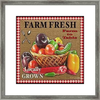Farm Fresh-jp2385 Framed Print by Jean Plout