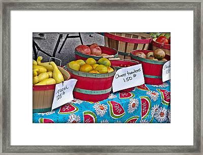Farm Fresh Produce At The Farmers Market Framed Print by JW Hanley