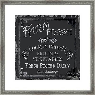 Farm Fresh Sign Framed Print by Debbie DeWitt