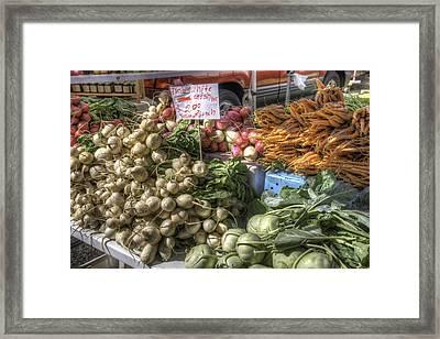 Farm Fresh Vegetables Framed Print