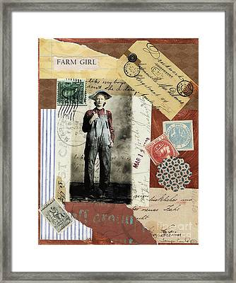 Farm Girl Framed Print by Tamyra Crossley
