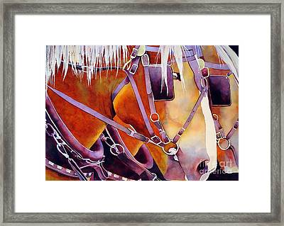 Farm Horses Framed Print by Robert Hooper