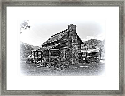Farm House 1 Framed Print by Todd Hostetter