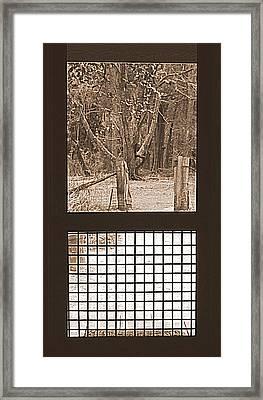 Farm House Door Way  Framed Print by Lynn Griffin
