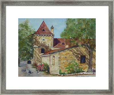 Farm House In Beynac France Framed Print