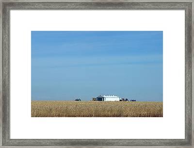 Farm House Kansas Framed Print