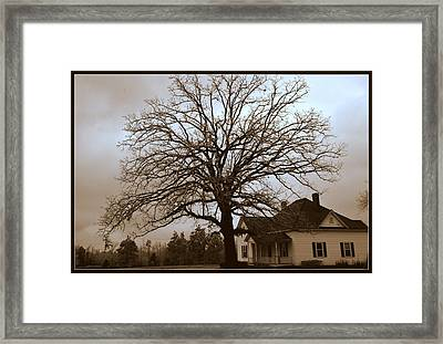 Farm House Framed Print
