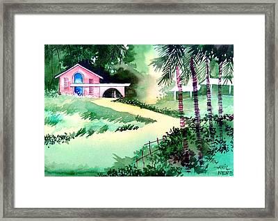 Farm House New Framed Print by Anil Nene