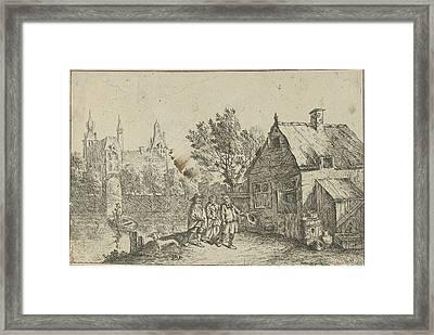 Farm House On The Water, Jan Lauwryn Krafft Framed Print by Quint Lox