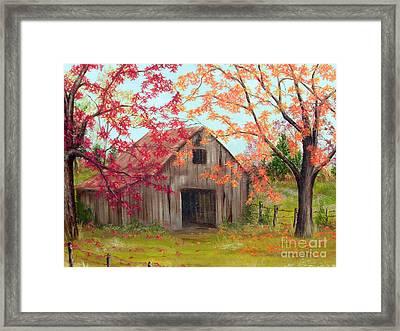Farm In Autum Framed Print