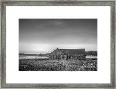 Farm In Black And White Framed Print by Twenty Two North Photography