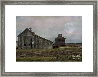 Farm In Kalispell Montana Framed Print