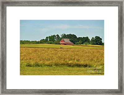 Framed Print featuring the photograph Farm In Oregon by Mindy Bench