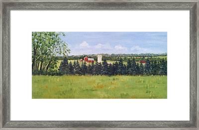 Farm In Rushland Framed Print