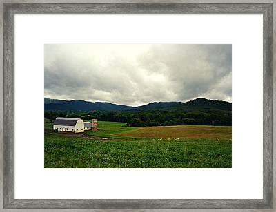 Farm In Swannanoa Nc Framed Print