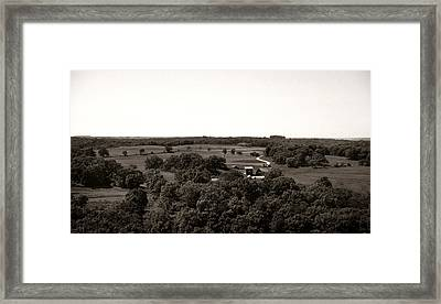 Farm In The Distance Framed Print by Marilyn Hunt
