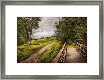 Farm - Landscape - Jersey Crops Framed Print by Mike Savad
