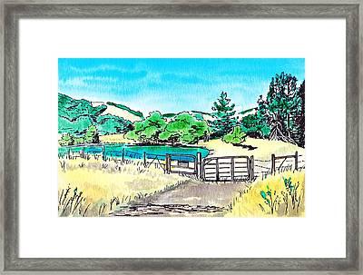 Farm Landscape Framed Print by Masha Batkova