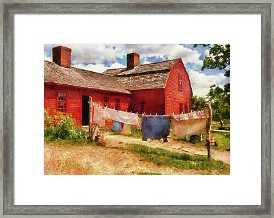 Farm - Laundry - The Clothes Line Framed Print