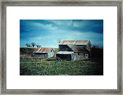 Farm Near Fenton Michigan Framed Print by James Welch