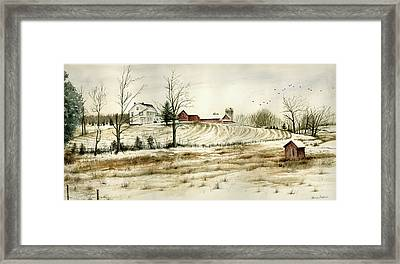Farm On Belcher Road Framed Print by Tom Hedderich