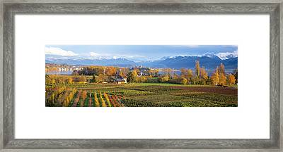 Farm, Rapperswil, Zurich, Switzerland Framed Print by Panoramic Images