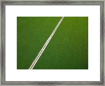Farm Road Through Green Fields Richmond Ontario Dairy Farm Framed Print by Rob Huntley