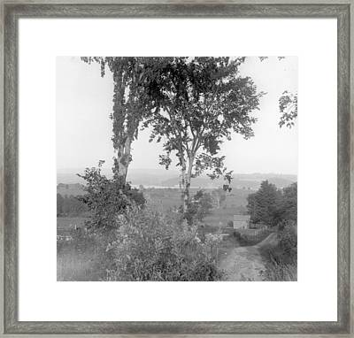 Farm Road Framed Print