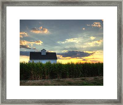 Farm-scape Framed Print by Coby Cooper