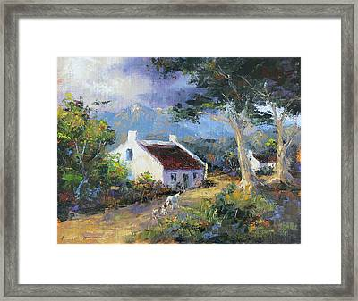 Farm Scene With Goats II Framed Print