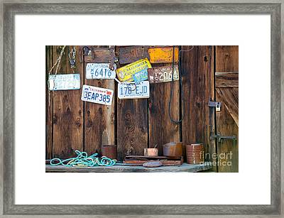 Framed Print featuring the photograph Farm Shed Memories by Vinnie Oakes